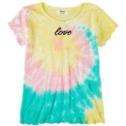 Full Circle Trends Big Girls Tie Dye Love Top