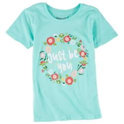 Big Girls Just Be You Floral Wreath Top