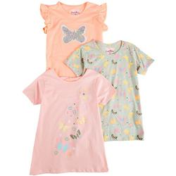 Big Girls 3-pk. Butterfly Top Set
