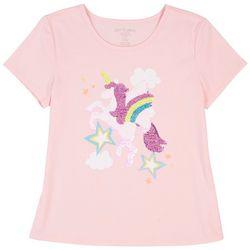 Dot & Zazz Little Girls Unicorn Sequin T-Shirt