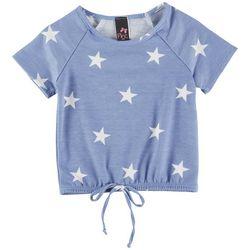 Pinc Little Girls Star Print Short Sleeve Top