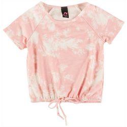 Pinc Little Girls Tie Dye Short Sleeve Top