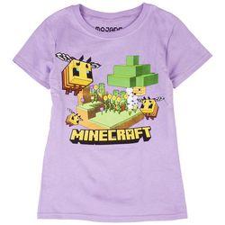 Minecraft Big Girls Minecraft Bee Short Sleeve T-Shirt
