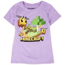 Big Girls Minecraft Bee Short Sleeve T-Shirt