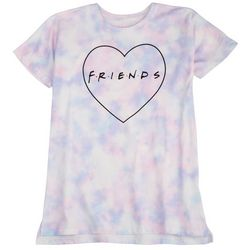 Friends Big Girls Tie Dye Heart T-Shirt