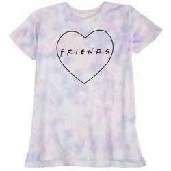 Big Girls Tie Dye Heart T-Shirt