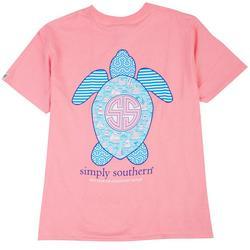 Big Girls Sea Turtle Sailboat T-Shirt