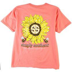 Simply Southern Big Girls Sunflower T-Shirt