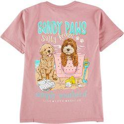 Simply Southern Big Girls Sandy Paws T-Shirt