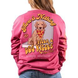 Big Girls Pizza & Dog Kisses T-Shirt