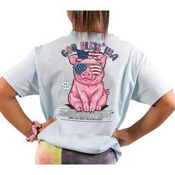 Simply Southern Big Girls God Bless The USA T-Shirt