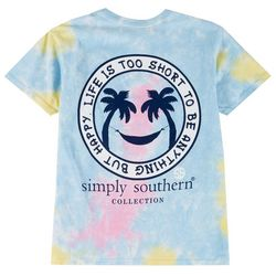 Simply Southern Big Girls Happy Tie Dye T-Shirt