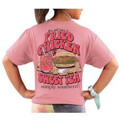 Simply Southern Big Girls Fried Chicken & Sweet Tea T-Shirt
