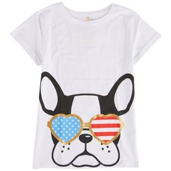 Runway Girl Big Girls Dog Americana Shades T-Shirt