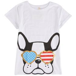 Big Girls Dog Americana Shades T-Shirt