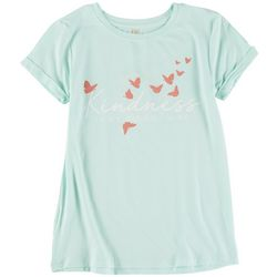 Runway Girl Big Girls Kindness Butterfly T-Shirt