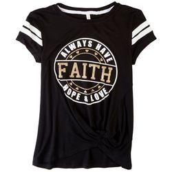 Runway Girl Big Girls Faith Hope Love T-Shirt