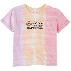 Runway Girl Big Girls Happiness Tie Dye T-Shirt