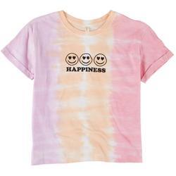 Big Girls Happiness Tie Dye T-Shirt