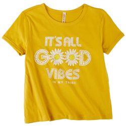 Runway Girl Big Girls It's All Good Vibes T-Shirt