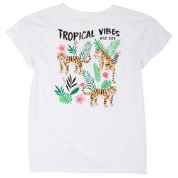 Runway Girl Big Girls Tropical Vibes T-Shirt