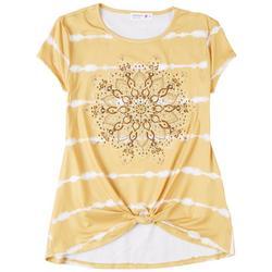 Big Girls Embellished Medallion T-Shirt