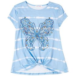 Beautees Big Girls Embellished Butterfly T-Shirt
