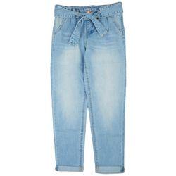Vigoss Big Girls Paper Bag Roll Cuffed Denim Jeans