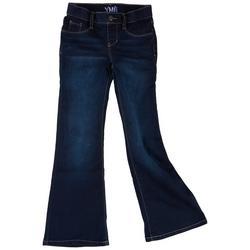 Big Girls Flared Pull On Denim Jeans