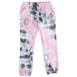 Big Girls Tie Dye Unicorn Jogger Pants