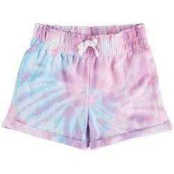 Big Girls Tie Dye Knit Shorts