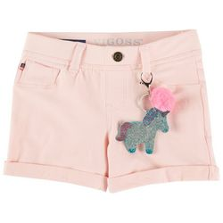 Vigoss Big Girls Roll Cuff Pull-On Solid Knit Shorts