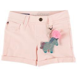 Big Girls Roll Cuff Pull-On Solid Knit Shorts