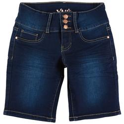Big Girls 3 Button Bermuda Denim Shorts
