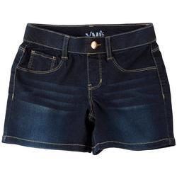 Little Girls Whiskered Pull On Denim Shorts