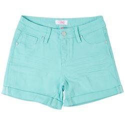 YMI Big Girls Cuffed Twill Shorts