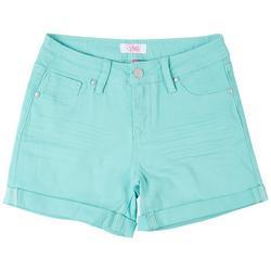 Big Girls Cuffed Twill Shorts