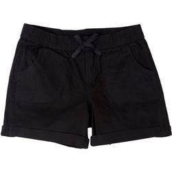 YMI Big Girls Cuffed Solid Shorts