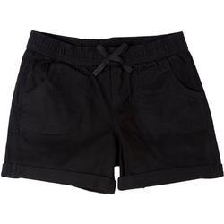 Big Girls Cuffed Solid Shorts