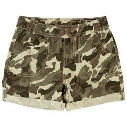 YMI Big Girls Cuffed Camo Shorts