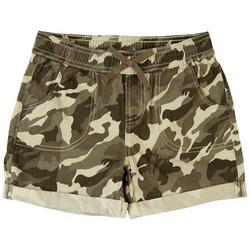 Big Girls Cuffed Camo Shorts