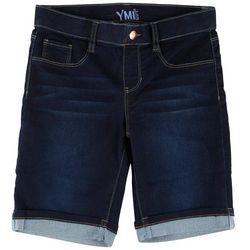 YMI Big Girls Cuffed Bermuda Shorts