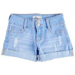 Jordache Big Girls Double Button Denim Shorts