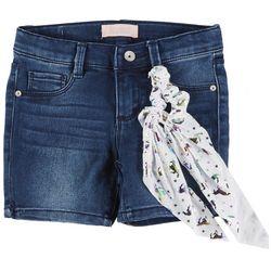 Squeeze Little Girls Denim Shorts & Unicorn Hair Tie