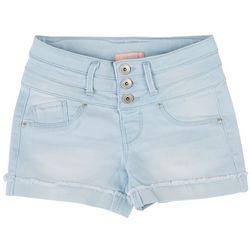 Squeeze Big Girls Denim Three Button Denim Shorts