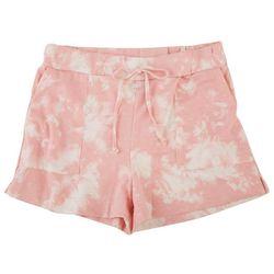 Pinc Little Girls Tie Dye Shorts