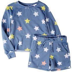 Vigoss Little Girls 2-pc. Star Print Short Set