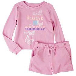 Vigoss Little Girls 2-pc. Believe In Yourself Short Set