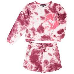 Big Girls 2-pc. Tie Dye Print Short Set