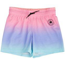 Converse Big Girls Rainbow Ombre Drawstring Shorts